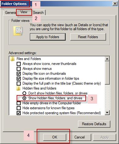 Unhide Folders